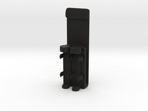 MOLLE Webbing Mounted 2x AAA Battery Holder in Black Natural Versatile Plastic
