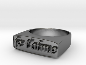 "RING   "" Je t'aime ""   U.S Size  9 in Polished Silver"