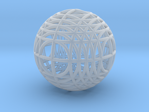 MegaWireSphere in Smooth Fine Detail Plastic