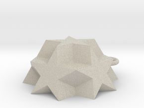 Dodecadodecahedron Charm in Natural Sandstone