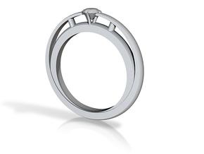fused diamond 1 in White Natural Versatile Plastic