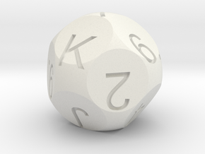 D13 Sphere Dice Cards in White Natural Versatile Plastic