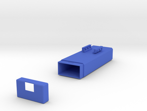 Plain Battery Box (Horizontal Mount) in Blue Processed Versatile Plastic