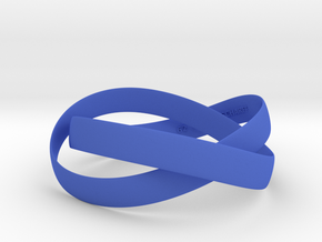 Double Swing Bracelet  62mm  in Blue Strong & Flexible Polished