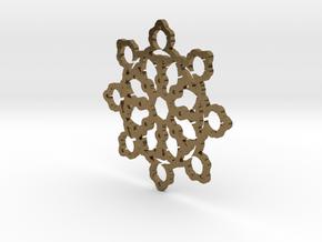 Mandelbrot Web Pendant 2 in Polished Bronze