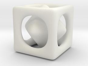 Inséparable N°3 in White Natural Versatile Plastic