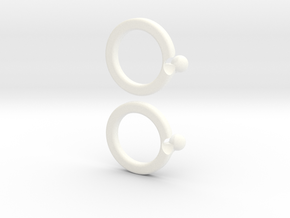 paired-puzzle-ring in White Strong & Flexible Polished
