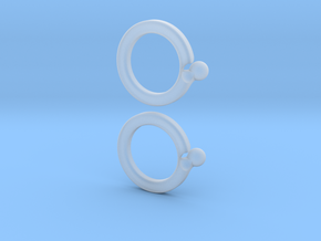 paired-puzzle-ring in Smooth Fine Detail Plastic