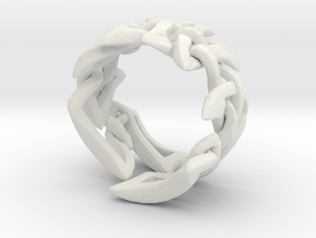 Celtic Weave 02 in White Natural Versatile Plastic