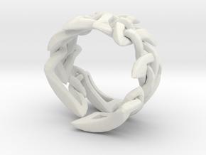 Celtic Weave 02 in White Natural Versatile Plastic