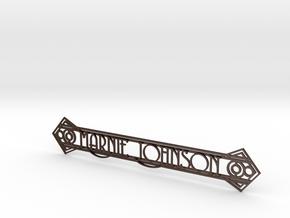 Doorplate in Matte Bronze Steel