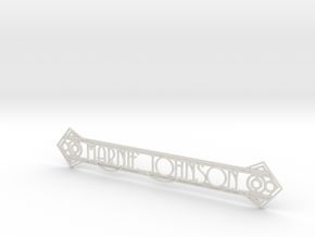 Doorplate in White Strong & Flexible
