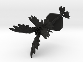 Air elemental_reshaped in Black Natural Versatile Plastic