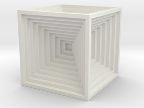 Brick - small in White Natural Versatile Plastic