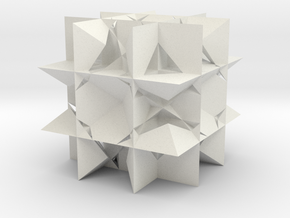 Uniform Gt, Rhombicuboctahedron in White Natural Versatile Plastic