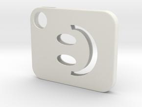 Flash Cover Smiley in White Natural Versatile Plastic
