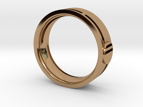 Men's Wedding Band in Polished Brass