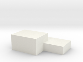 DoubleBOx in White Natural Versatile Plastic