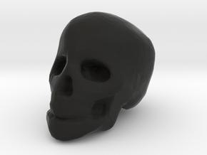 miniature skull in Black Natural Versatile Plastic