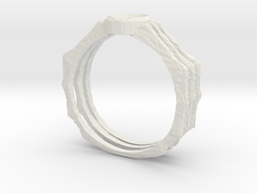 Spider Ring -v3 (size 14-ish in Steel) in White Natural Versatile Plastic