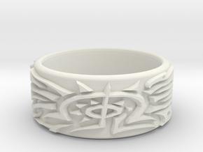 Eldritch Ring - Finger - Size 11.5 in White Natural Versatile Plastic