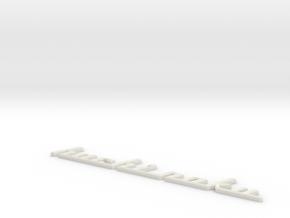 Hachi-1Bev Small in White Natural Versatile Plastic