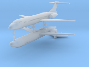 1/700 Boeing 717-200 Commercial Airliner (x2) in Frosted Ultra Detail