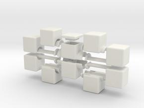 1x2x5 V2 in White Natural Versatile Plastic