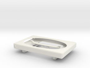 Beltloop wallet/cardholder in White Natural Versatile Plastic