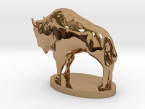 "Buffalo Nickel statue - 1"" = 16' in Polished Brass"