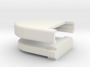 Rounded Box 2 in White Natural Versatile Plastic