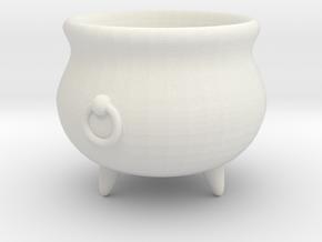 Large Cauldron, 28mm scale in White Natural Versatile Plastic
