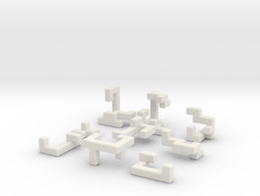 Switch Cube (2.4 cm) in White Natural Versatile Plastic