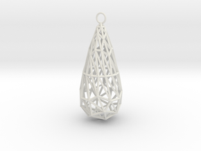 twisted teardrop lattice earring 1 in White Natural Versatile Plastic