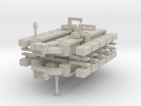 Cargo Spaceship x2 in Sandstone
