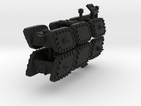 3 Mixed Set of 6 Armored Vehicles  in Black Strong & Flexible