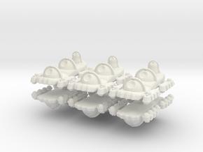 5 Artillery x6 in White Natural Versatile Plastic