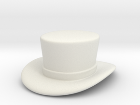 Top Hat in White Natural Versatile Plastic