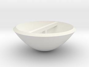 Smaller Dish in White Strong & Flexible