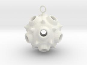 spore earring 1 in White Natural Versatile Plastic
