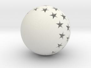 Christmasball in White Natural Versatile Plastic