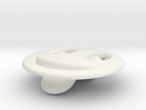 Smiley Emotibotton in White Natural Versatile Plastic