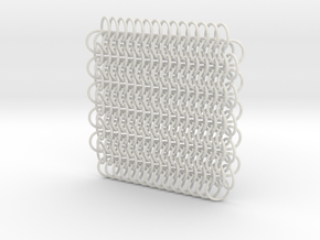 Chain Maille (European 6 in 1) in White Natural Versatile Plastic