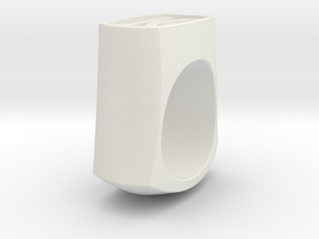 Signet Ring in White Natural Versatile Plastic
