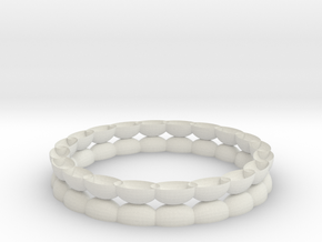 Bracelet 1 stl via netfabb in White Natural Versatile Plastic