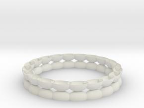 Bracelet 1 stl via netfabb in White Natural Versatile Plastic