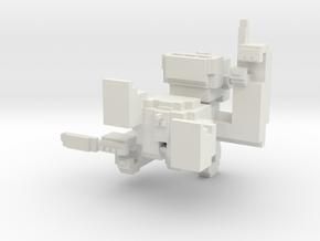 Pixel Monkey in White Natural Versatile Plastic