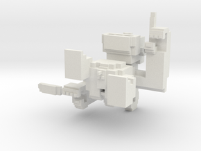Small Pixel Monkey in White Natural Versatile Plastic