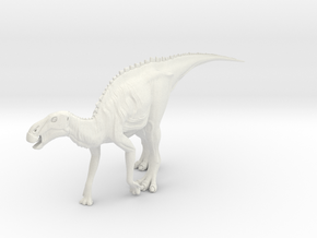 Dinosaur Brachylophosaurus Small HOLLOW in White Natural Versatile Plastic