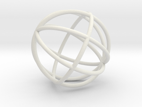 globe in White Natural Versatile Plastic